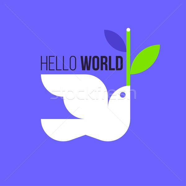 Pace colomba stile bianco piccione oliva Foto d'archivio © ussr
