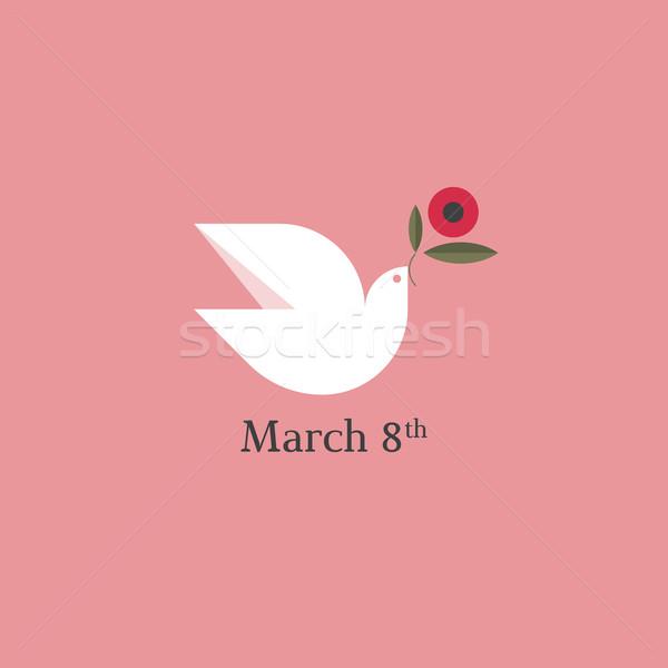голубя цветок международных день карт стиль Сток-фото © ussr