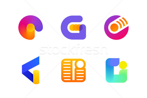 Logo or icon of letter G for global cryptocurrency industry Stock photo © ussr