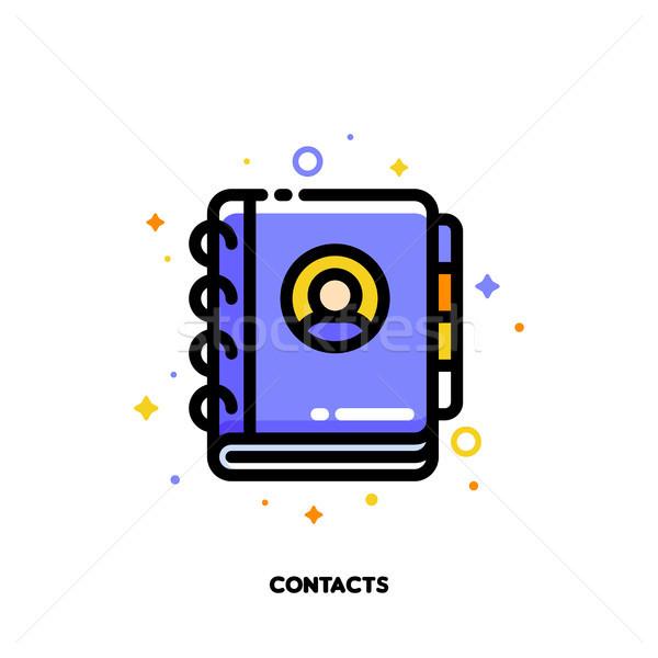 Icona notebook indirizzo telefono libro comunicazione Foto d'archivio © ussr