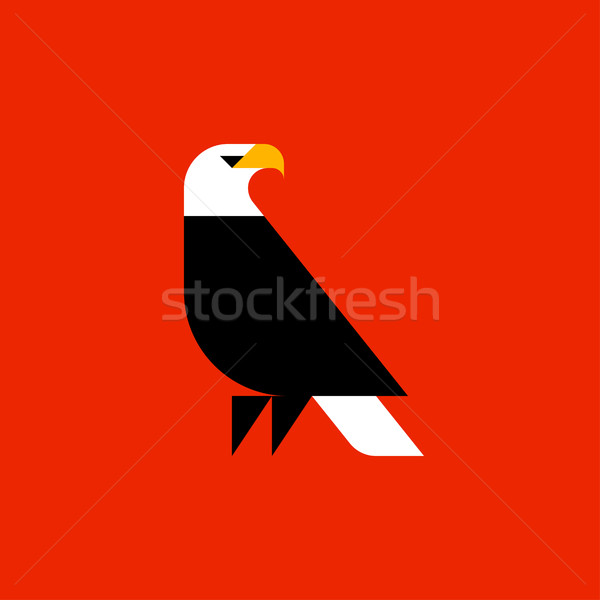 Fat style vector logo template of bald eagle Stock photo © ussr