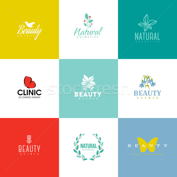 Set of beauty and nature logo templates and icons  Stock photo © ussr