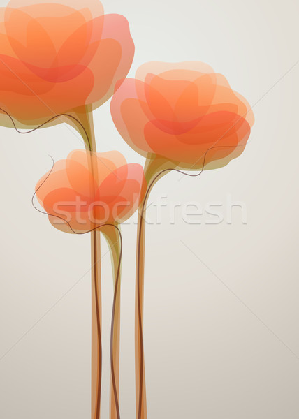 Flores resumen naranja signo color idea Foto stock © ussr