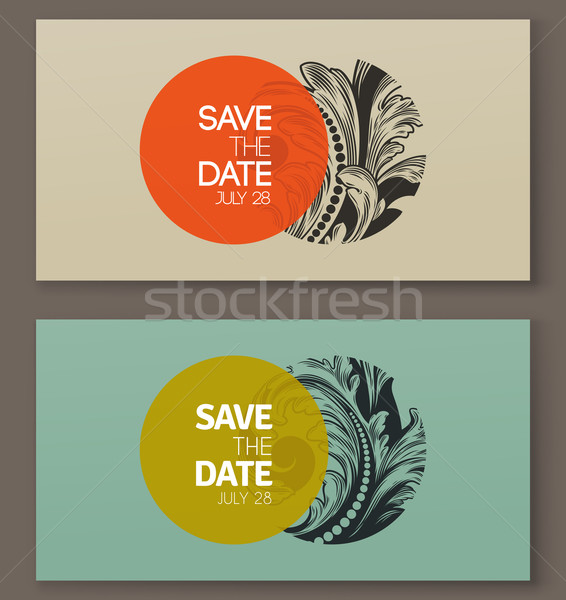 Elegant baroque badges. Elements for design. Vector illustration Stock photo © ussr
