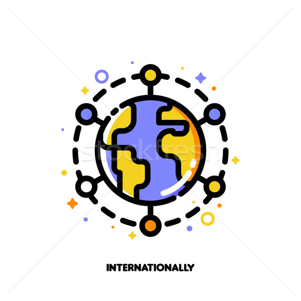 Icon of globe for international financial markets concept Stock photo © ussr