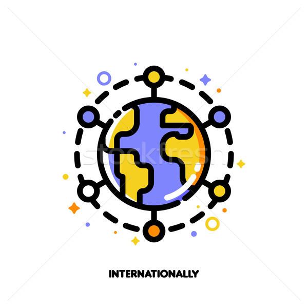 икона мира международных финансовых Рынки Сток-фото © ussr