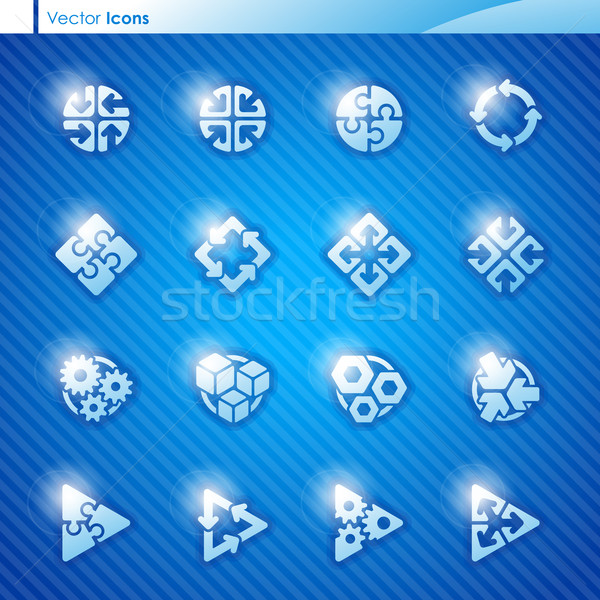 Stock photo: Abstract geometrical icons. Elements for design.