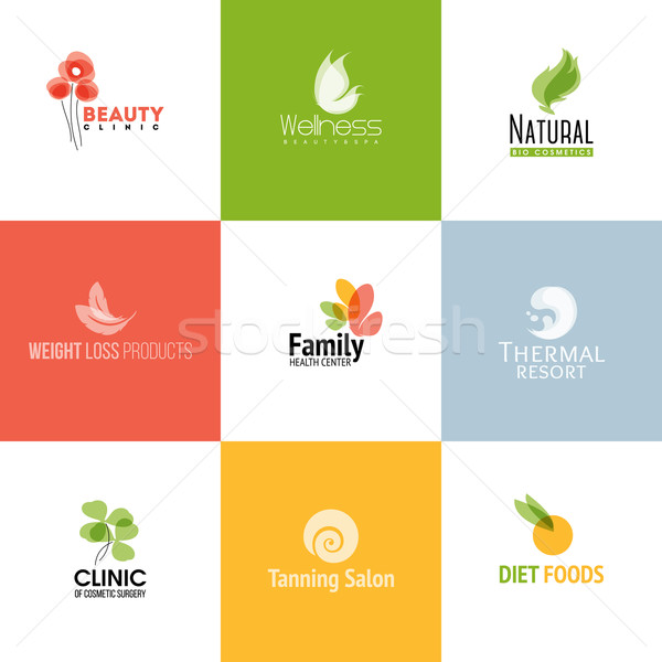 Set of modern beauty and nature logo templates and icons Stock photo © ussr