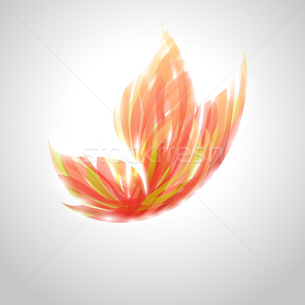 Shiny red striped butterfly. Vector illustration. Stock photo © ussr