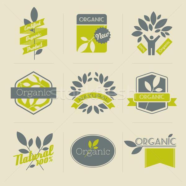 Сток-фото: органический · ретро · Этикетки · жетоны · другой · дизайна