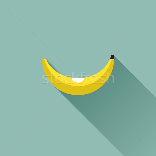 Stok fotoğraf: Muz · dizayn · uzun · gölge · gıda · meyve