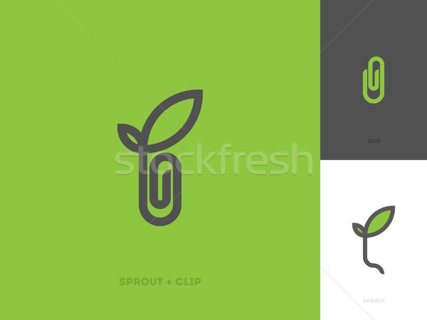 современных линия логотип шаблон Сток-фото © ussr