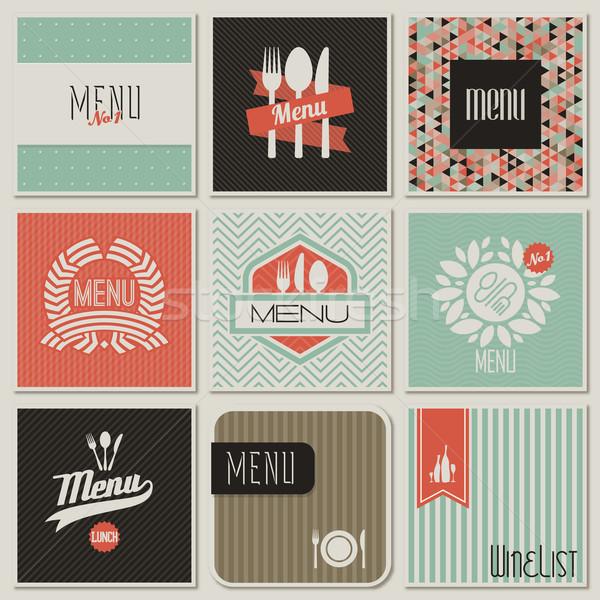 Сток-фото: ресторан · меню · иллюстрация · текстуры · продовольствие