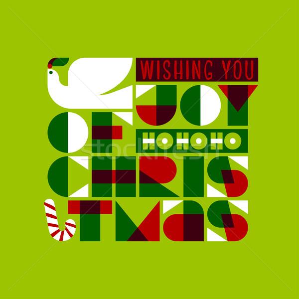 Noël carte de vœux joie amour paix colombe Photo stock © ussr