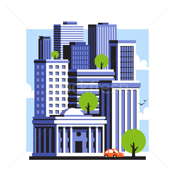 City landscape of downtown with high skyscrapers. Urban panorama Stock photo © ussr