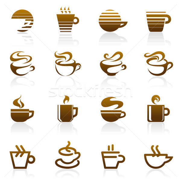 Photo stock: Café · vecteur · logo · modèle