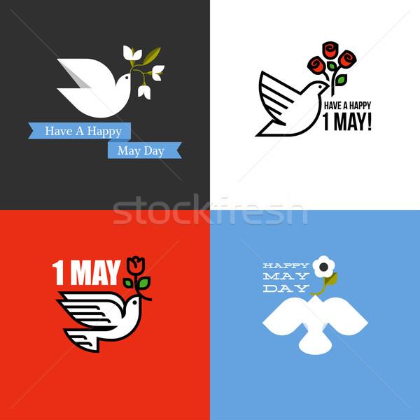 стиль карт праздник международных рабочие день Сток-фото © ussr