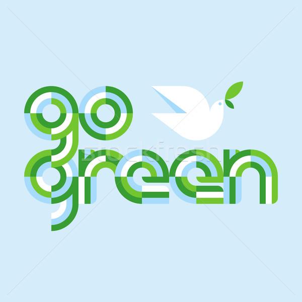 Stock fotó: Föld · napja · zöld · fehér · béke · galamb · olajbogyó