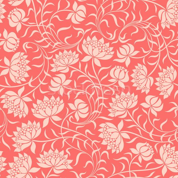 бесшовный цветочный дизайна фон лет красный Сток-фото © ussr