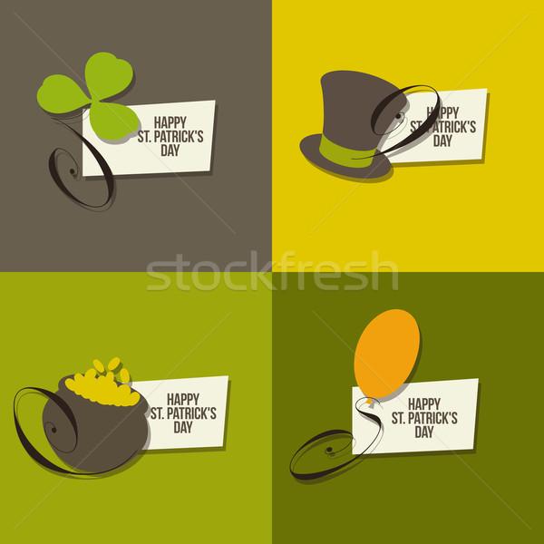 St. Patrick's Day symbols. Set of vector illustrations Stock photo © ussr