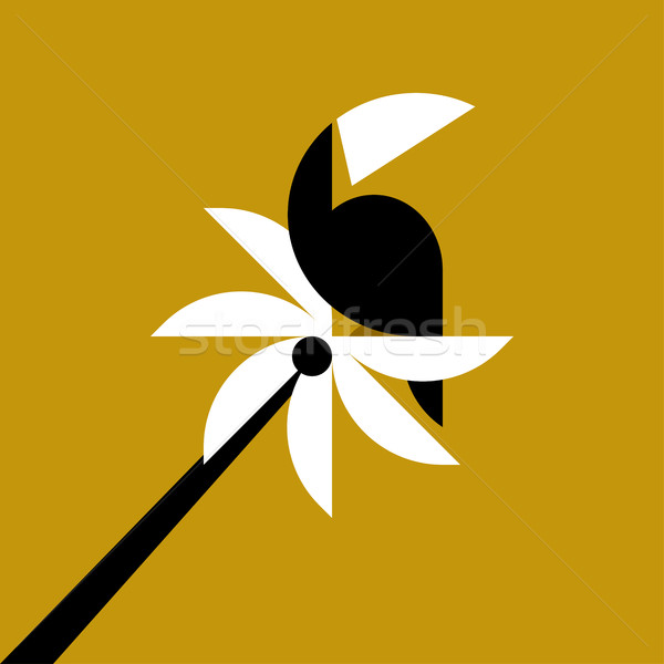 пальма геометрический стиль аннотация Palm знак Сток-фото © ussr