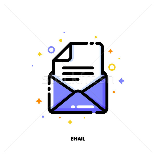 Icon of email for help and support concept. Flat filled outline  Stock photo © ussr