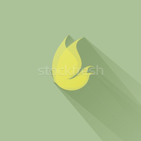 желтый бабочка зеленый лет лет карт Сток-фото © ussr
