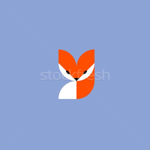 Fox. Vector logo mark template or icon Stock photo © ussr