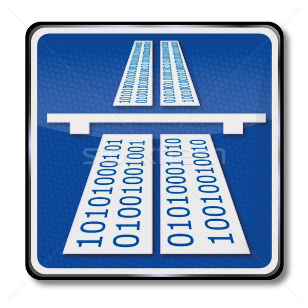 Traffic sign  information superhighway Stock photo © Ustofre9