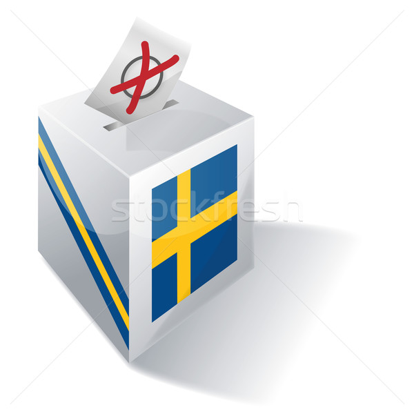 Stock photo: Ballot box Sweden