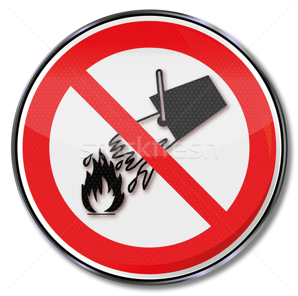 Prohibition sign extinguish with water Stock photo © Ustofre9