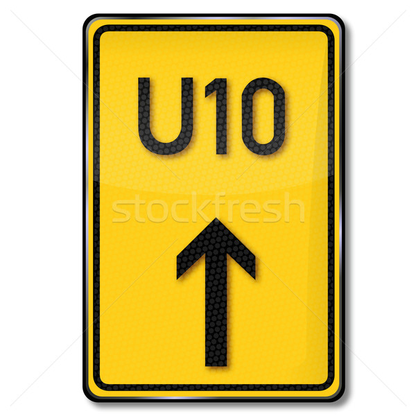 Traffic sign detour Stock photo © Ustofre9