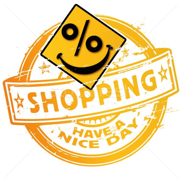 Shopping pourcentages affaires visage marketing Photo stock © Ustofre9