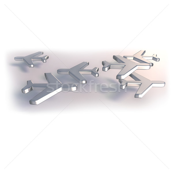 Airplanes made of metal Stock photo © Ustofre9