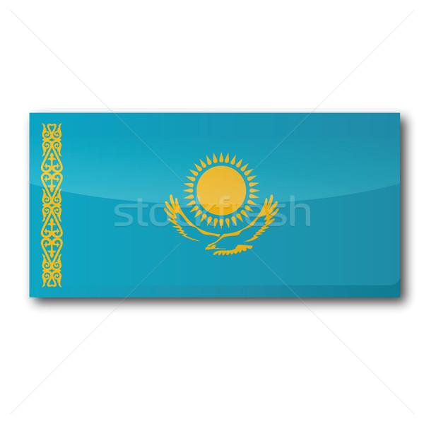 Flag Kazakhstan Stock photo © Ustofre9