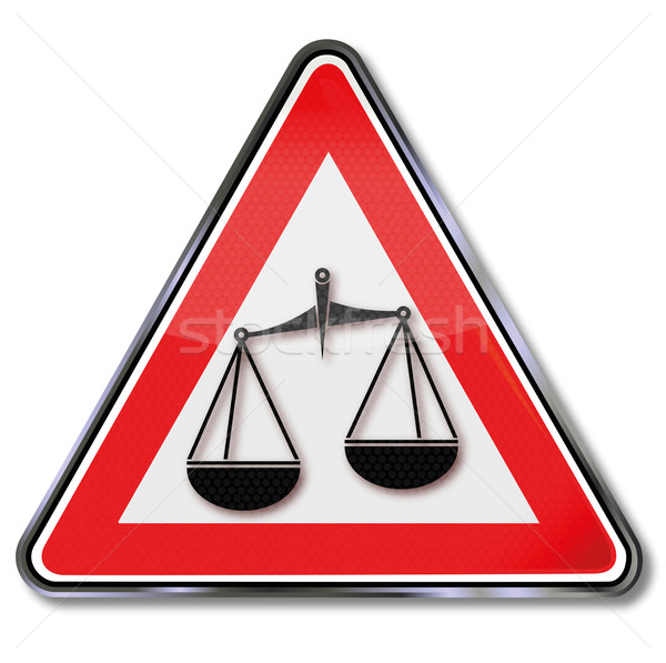 Sign with balance, law, set and justice Stock photo © Ustofre9