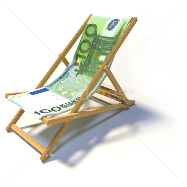 Folding deckchair with 100 euro Stock photo © Ustofre9