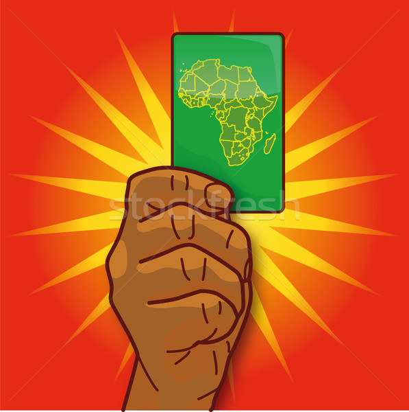 Hand showing a card with Africa Stock photo © Ustofre9