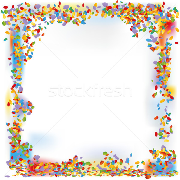 Confetti forms a frame Stock photo © Ustofre9