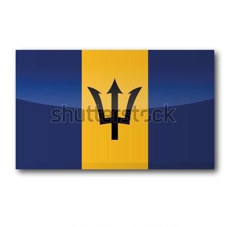 Zászló Madeira térkép kereszt sziget Euro Stock fotó © Ustofre9
