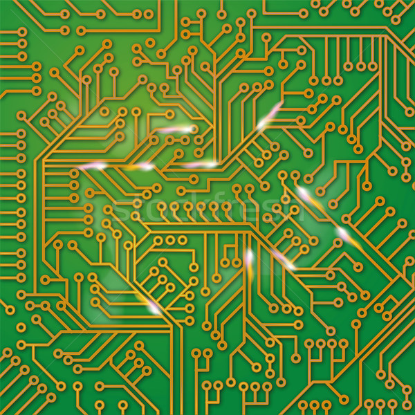 Green computer board with wiring  Stock photo © Ustofre9