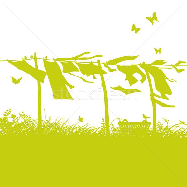 Waving laundry on the clothesline  Stock photo © Ustofre9