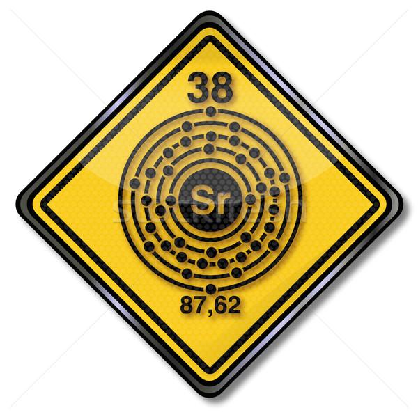 にログイン 化学 文字 金属 プレート 標識 ストックフォト © Ustofre9
