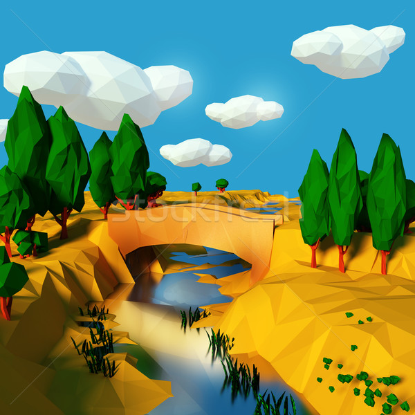 Bridge over the river in the dry south Stock photo © Ustofre9