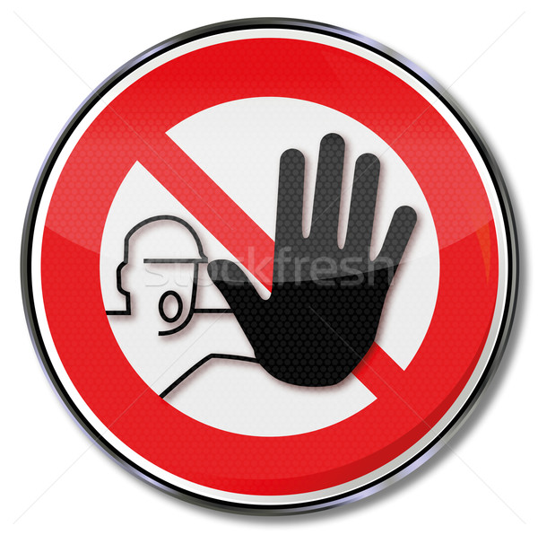 Prohibition sign Hand stop and no continuity Stock photo © Ustofre9