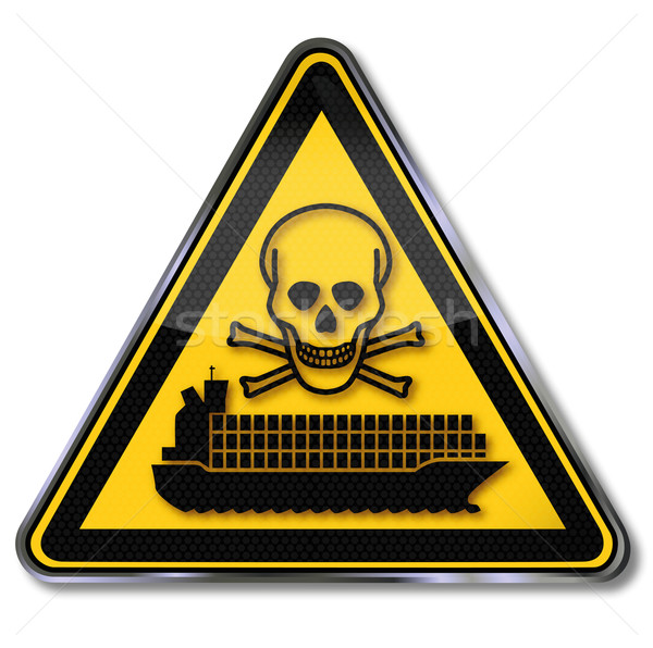 Sign container ship with toxic waste Stock photo © Ustofre9
