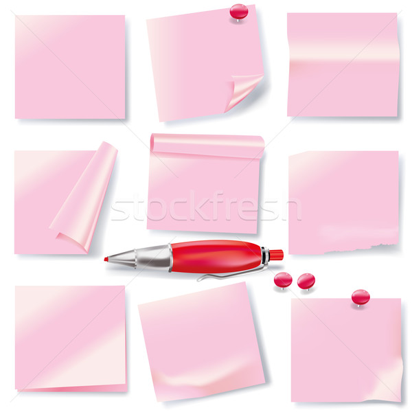 Pink notes and short messages Stock photo © Ustofre9