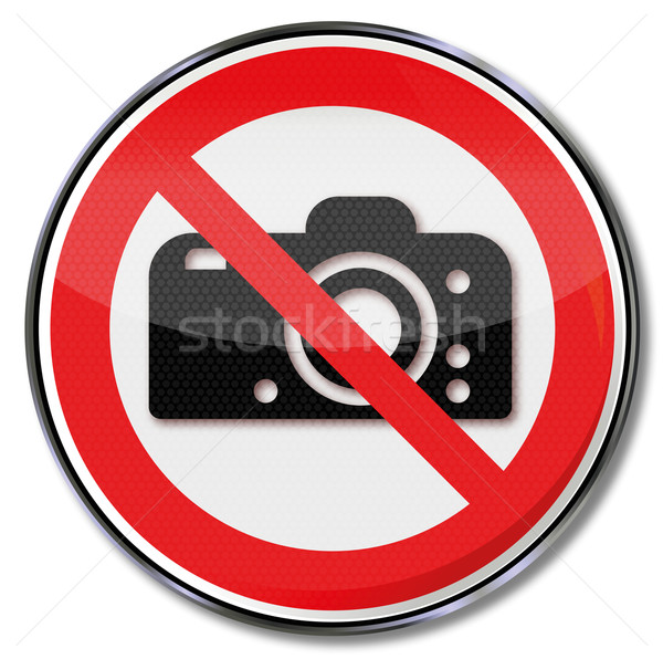 Prohibition sign it is forbidden to photograph Stock photo © Ustofre9