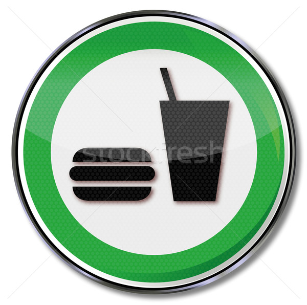 Sign hamburger, fast food and soft drink  Stock photo © Ustofre9