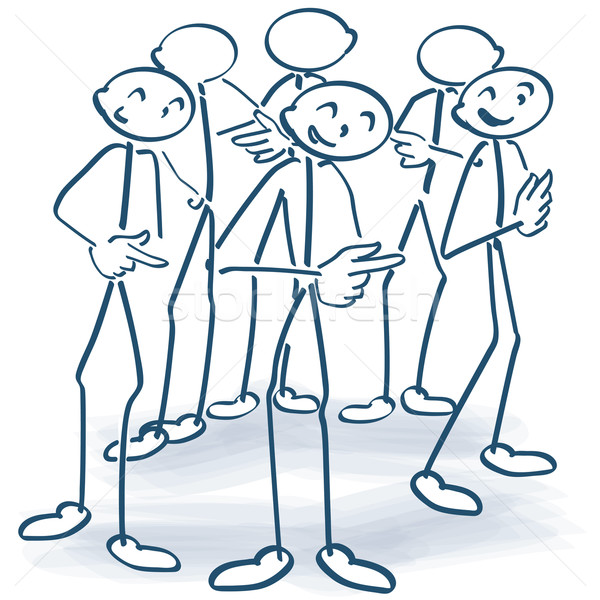 Stick figures standing in a circle and give responsibility further Stock photo © Ustofre9